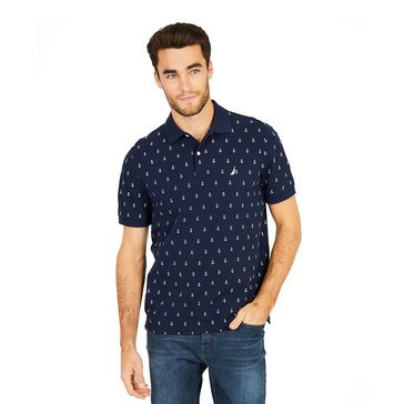 Nautica Men's Short Sleeve Printed Polo