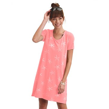 Fresh Produce Women's Sea Star Allure Short Sleeve Printed Dress