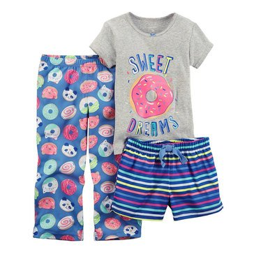 Carter's Girls' 3-Piece Polyester Sweets Pajama Set