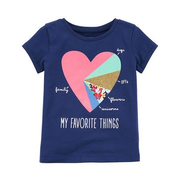 Carter's Little Girls' Favorite Heart Tee