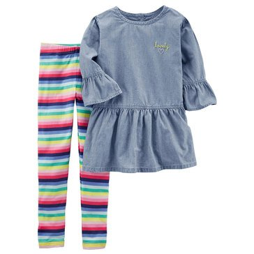 Carter's Little Girls' 2-Piece Woven Legging Set