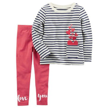 Carter's Little Girls' 2-Piece French Terry Legging Set