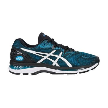 Asics Gel Nimbus 20 Men's Running Shoe - Island Blue / White / Black