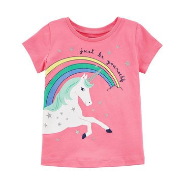Carter's Little Girls' Rainbow Unicorn Tee