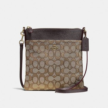 Coach Signature Messenger Crossbody Khaki/ Brown