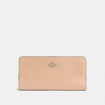 Coach Smooth Leather Skinny Wallet Beechwood