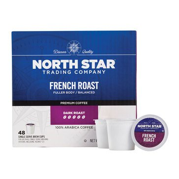 North Star French Roast Single Serve Coffee Cups, 48-Count