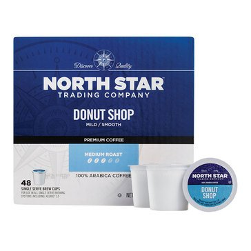 North Star Donut Shop Single Serve Coffee Cups, 48-Count