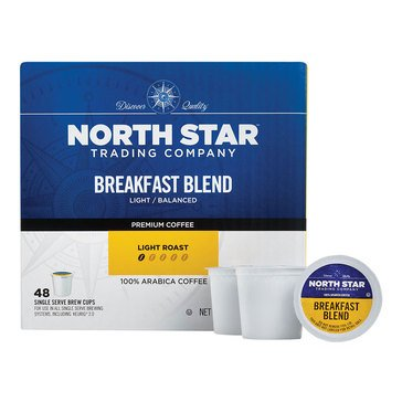 North Star Breakfast Blend Single Serve Coffee Cups, 48-Count