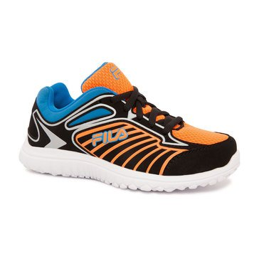 Fila Rocket Fueled Boys' Running Shoe - Black/ Orange
