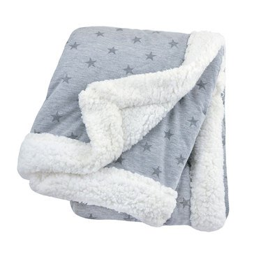 Just Born 2 Ply Star Blanket, Heather Grey