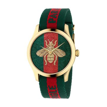 Gucci Men's Bee Nylon Strap Watch, 38mm