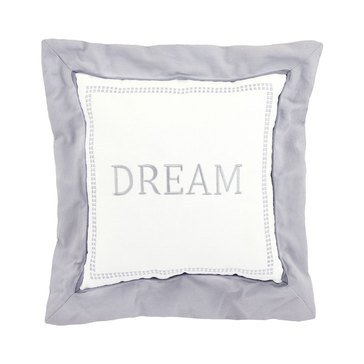 Just Born Dream Brushed Twill Pillow, Grey