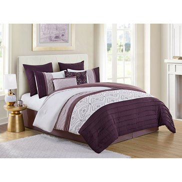 Harbor Home Gold Collection 8-Piece Comforter Set, Andrew Plum - Queen