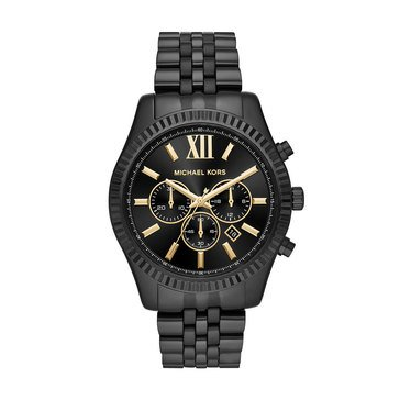 Michael Kors Men's Lexington Watch MK8603, Black IP Bracelet 44mm