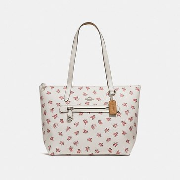 Coach Floral Bloom Taylor Tote Chalk Multi
