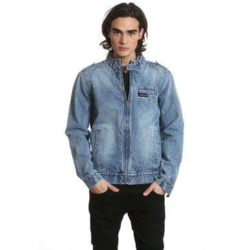 Members Only Men's Denim Racer Windbreaker