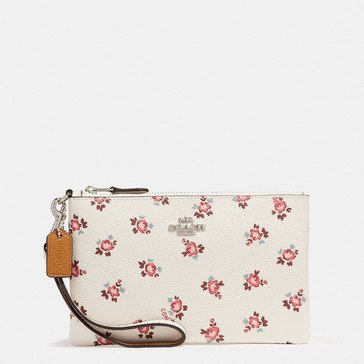 Coach Box Program Floral Bloom Small Wristlet Chalk Floral Bloom