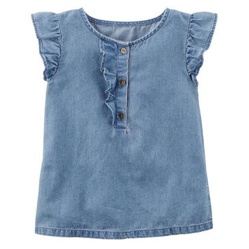Carter's Little Girls' Chambray Top