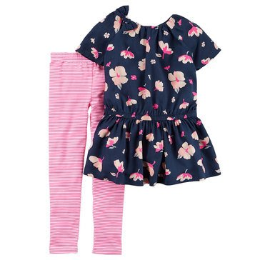 Carter's Little Girls' Woven Legging Set