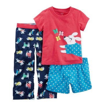 Carter's Girls' 3-Piece Dog Pajama Set
