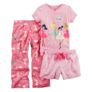 Carter's Girls' 3-Piece Ballerina Pajama Set