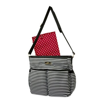 Baby Essentials Black & White Stripe Stroller Tote