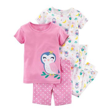 Carter's Girls' Cotton Owl Pajama Set