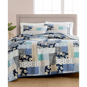 Martha Stweart Collection Contrast Patchwork Quilt - King