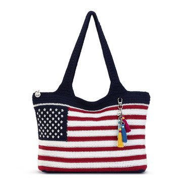 The Sak Collective Crochet Casual Classics Tote Flag