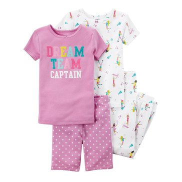 Carter's Girls' 4-Piece Dream Team Pajama Set