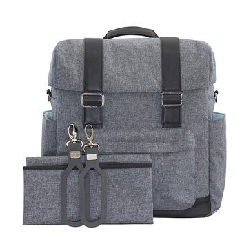 JJ Cole Knap Sack Diaper Bag, Heathered Grey