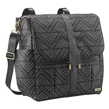 JJ Cole Backpack Diaper Bag, Black Aztec Chevron