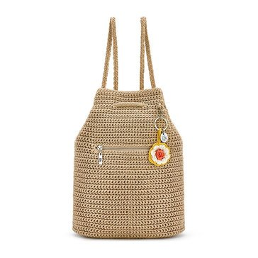 The Sak Crochet Petaluma Backpack Bamboo