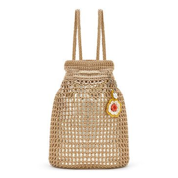 The Sak Crochet Petaluma Backpack Bamboo w/ Gold