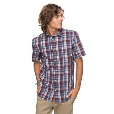 Quiksilver Men's Everyday Short Sleeve Mini Check Woven Shirt