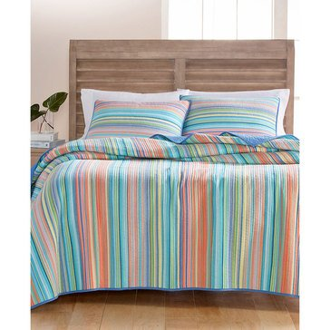 Martha Stewart Collection Tropical Yarn Dye Quilt -Full/Queen