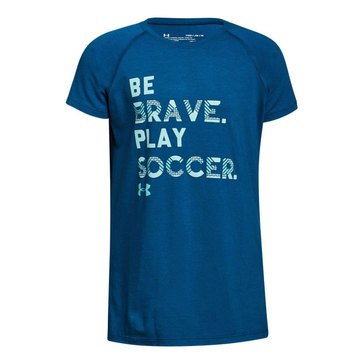 Under Armour Big Girls' Play Soccer Tee