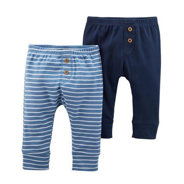Carter's Baby Boys' 2-Pack Pant Set, Blue Stripe
