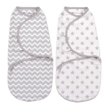 Summer Infant Swaddleme 2-Pack Chevron Stars, Small