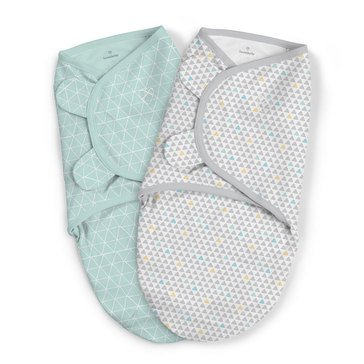Summer Infant Swaddleme 2-Pack Peaks and Points, Large