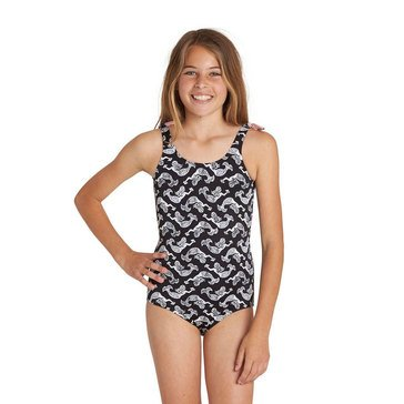 Billabong Little Girls' 1-Piece Conch'd Out Swimsuit
