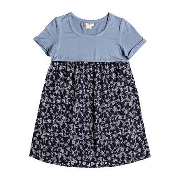 Roxy Big Girls' Branch of Lilac Woven Dress
