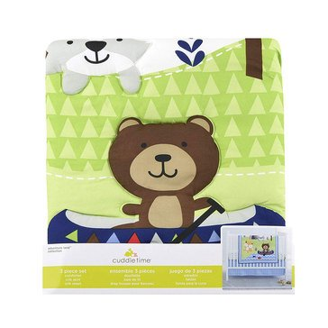 CuddleTime 3-Piece Bedding Set, Adventure Land