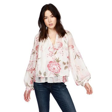 Lucky Brand Women's Jenna Peasant Blouse