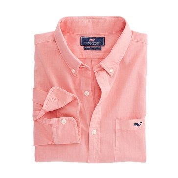Vineyard Vines Men's Long Sleeve Slim Tucker Woven Button-Down Shirt