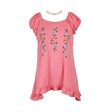 Speechless Big Girls' Knit Embroidered Top