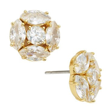 Kate Spade Gold Tone 'Flying Colors' Marquise Cluster Stud Earrings