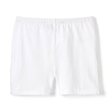 Yarn & Sea Big Girls' Kick Shorts, White
