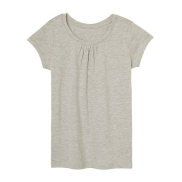Yarn & Sea Toddler Girls' Crew Neck Tee Shirt, Grey